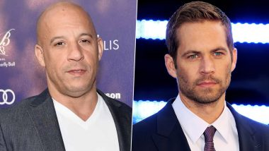 Fast and Furious: Vin Diesel Remembers Late Actor Paul Walker With a Heartfelt Post, Says 'Here's to the Ones Who Know Loss'