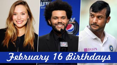 February 16 Celebrity Birthdays: Check List of Famous Personalities Born on Feb 16