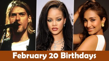 February 20 Celebrity Birthdays: Check List of Famous Personalities Born on Feb 20