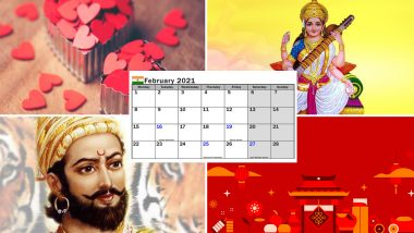 February 2021 Holidays Calendar With Festivals & Events: Valentine's Day, Shivaji Maharaj Jayanti, Vasant Panchami; Know All Important Dates, List of Fasts & International Days for the Month