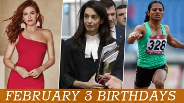 February 3 Celebrity Birthdays: Check List of Famous Personalities Born on Feb 3