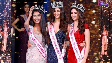 VLCC Femina Miss India 2020 Telecast Date, Timing and Channel: Watch Miss India Manasa Varanasi, Runner-Up Manya Singh and Miss Grand India Manika Sheokand's Crowning Moment