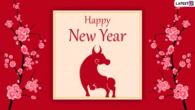 Year of the Ox 2021 Wishes & Chinese New Year HD Images: 'Gong Hei Fat Choy' Messages, Lunar New Year WhatsApp Stickers, CNY Signal Photos & Facebook GIFs to Celebrate the Spring Festival