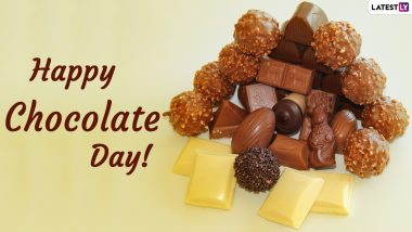 Chocolate Day 2021 Romantic Wishes for Him and Her: WhatsApp Stickers, Signal Messages, Chocolate Quotes, Telegram HD Images and Facebook Greetings to Share With Your Partner