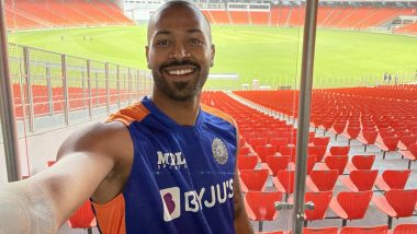 Hardik Pandya Mesmerised by Beautiful View of Motera Stadium, Says 'It Feels Surreal' After Stepping Into the 1 Lakh Sitter (See Post)