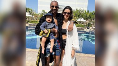Hardik Pandya Spends Quality Time Wife Natasa Stankovic and Son Agastya in Pool Ahead of India vs England 2nd Test 2021 (View Pics)