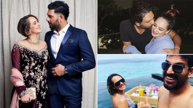 Hazel Keech Birthday: 8 Mushy Pictures of the B'Day Gal With Hubby Yuvraj Singh That Will Melt Your Heart!