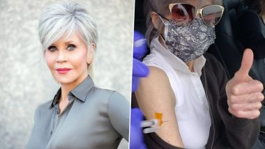 Jane Fonda Shares Pic of Getting COVID-19 Vaccine, Says 'Yay! It Doesn't Hurt'
