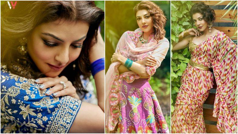 5 Beautiful Photos of Kajal Aggarwal in Designer Lehengas and Saree!