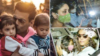 Karan Johar's Twins Yash and Roohi's Birthday Bash: Kareena Kapoor's Son Taimur, Neha Dhupia's Daughter Mehr and Others Arrive in Style!