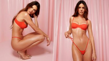 Valentine's Day 2021 Sexy Lingerie: Kendall Jenner Dons Red Hot Bra and SKIMPIEST Thong to Leave Temperatures Soaring (View Pics)