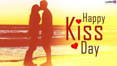 Happy Kiss Day 2021 Messages and WhatsApp Stickers: Facebook Wishes, Romantic Quotes, Cute Telegram GIFs, Signal HD Images and Greetings to Send to Your Beau Ahead of Valentine's Day