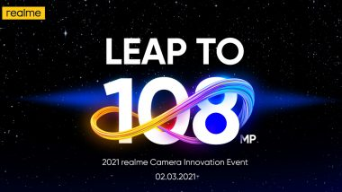 Realme Unveils 108MP Camera for Upcoming Realme 8 Series Smartphones: Report