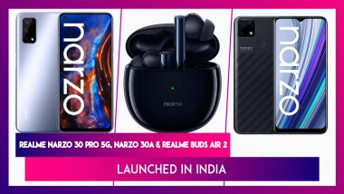 Realme Narzo 30 Pro 5G, Narzo 30A & Realme Buds Air 2 Launched in India; Check Prices, Features, Variants & Specifications