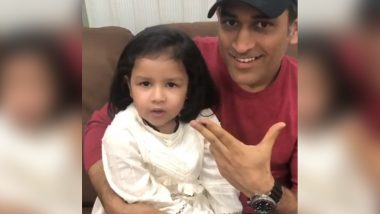 MS Dhoni's Daughter Ziva Celebrates Her 6th Birthday: A Look at Some Adorable Pictures & Videos of Former Indian Captain and His Little Princess