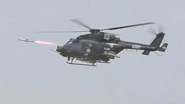 India Successfully Test Fires Anti-Tank Guided Missiles Helina and Dhruvastra