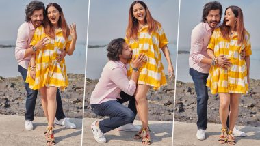 Neeti Mohan Announces Pregnancy With Hubby Nihaar Pandya on Their Second Wedding Anniversary, Flaunts Her Baby Bump (View Pics)