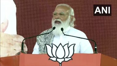PM Narendra Modi Refers to 'Toolkit' During Assam Rally, Says 'Foreign Powers Planning to Tarnish Image of India's Tea'