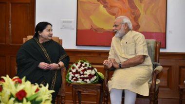 Jayalalithaa's 73rd Birth Anniversary: PM Narendra Modi, VK Sasikala Pay Tributes to AIADMK Supremo on Her Birth Anniversary