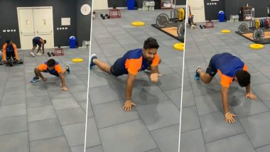 Rishabh Pant Tries the 'Spiderman Climb' During India's Workout Session Ahead of IND vs ENG Pink-Ball Test (Watch Video)