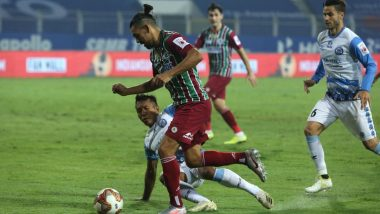 ATK Mohun Bagan 1-0 Jamshedpur FC, ISL 2020-21 Match Result: Roy Krishna Scores Late Goal to Help Mohun Bagan Reclaim Top Spot