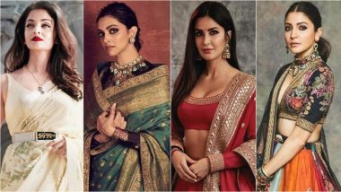 Sabyasachi Birthday Special: Deepika Padukone, Anushka Sharma, Aishwarya Rai Bachchan & Other Actresses Who Wowed Us in Bollywood's Favourite Designer's Outfits