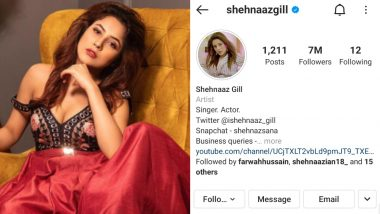 Shehnaaz Gill Hits 7 Million Followers on Instagram and Fans Are in a Celebratory Mood!