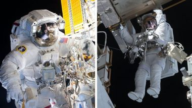 NASA Spacewalk: Spacewalking Astronauts Kate Rubins and Victor Glover Prep Station for New Solar Wings (Watch Video)