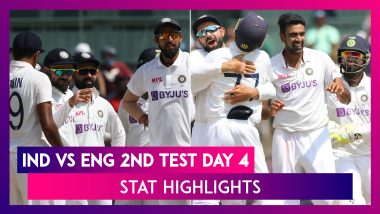 IND vs ENG 2nd Test 2021 Day 4 Stat Highlights: Team India Register Their fifth-Biggest Test Win
