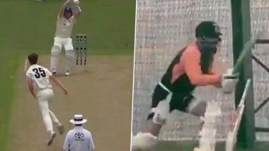Virat Kohli Imitates Steve Smith's Batting Style During Net Session at Narendra Modi Stadium (Watch Video)