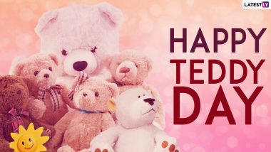 Happy Teddy Day 2021 HD Images, Greetings & Wishes: Share Teddy Pics, GIFs, WhatsApp Stickers and Messages to Celebrate the Fourth Day of Valentine's Week