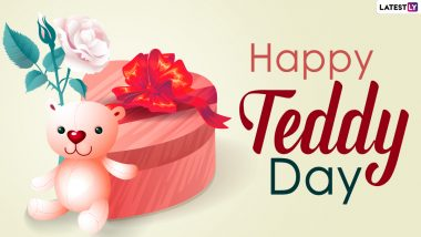 Teddy Day 2021 Wishes For Boyfriend: WhatsApp Stickers, Teddy Day HD Images, Signal Quotes, Valentine Week Telegram Messages, GIFs and Facebook Greetings to Send To Your Beau