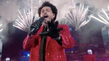 Super Bowl 2021 Halftime Show: The Weekend's Solo Performance Gets a Hilarious Twist, Netizens Come Up With Funny Jokes and Memes (View Tweets)