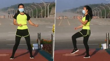Myanmar Coup Viral Video: Woman Performs Aerobics While Convoy of Black SUVs Lay Siege Around the Parliament Complex