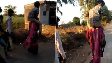 MP Tribal Woman Forced to Walk With Teenager on Shoulder For 3 KM, Beaten & Shamed by In-Laws; Watch Video