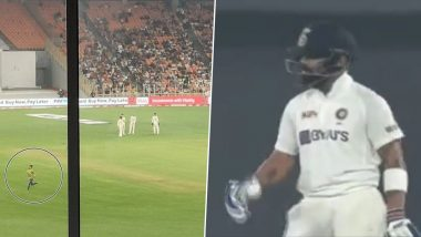 Virat Kohli Fan Breaches Security at Narendra Modi Stadium To Meet Indian Captain During IND vs ENG Day-Night Test