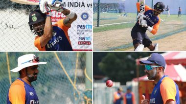 Virat Kohli, Rohit Sharma and Other Indian Cricketers Sweat Out in Nets As Players Get 'Match Ready' Ahead of IND vs ENG 1st Test