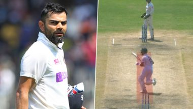 Virat Kohli Left Miffed After Umpire Nitin Menon Warns Him for Running on Danger Area in India vs England 2nd Test 2021 (Watch Video)