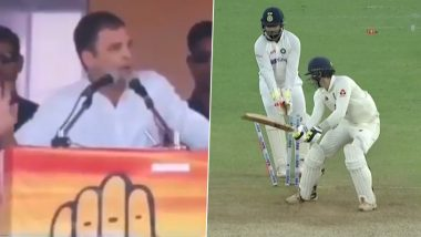 Virender Sehwag Shares Rahul Gandhi's Khatam-Tata-Bye-Bye Meme As India Bundle Out England for Just 112 Runs in Pink Ball Test