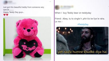 Happy Teddy Day 2021 Funny Memes, Wishes and HD Images Trend on Twitter, From Cute Teddy Quotes to Hilarious Valentine Week Jokes, Netizens Are Having A Wild Day!