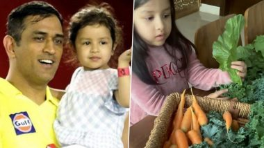 Ziva Dhoni Shares Glimpse of Vegetables Grown At MS Dhoni's Farm in Ranchi (Watch Video)