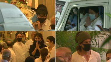 Rajiv Kapoor's Funeral: Nephew Ranbir Kapoor Performs the Last Rites; Alia Bhatt, Shah Rukh Khan Arrive to Offer Their Condolences