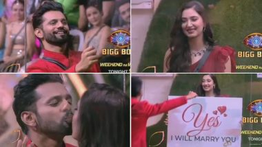 Bigg Boss 14's Valentine Day's Special: Disha Parmar Says 'Yes' After Rahul Vaidya's Proposes to Her in a Romantic Setting (Watch Video)