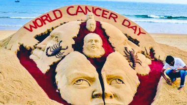 World Cancer Day 2021 Sand Art by Sudarsan Pattnaik is Staggering & Gives Hope For A Cancer Free World (See Pic)