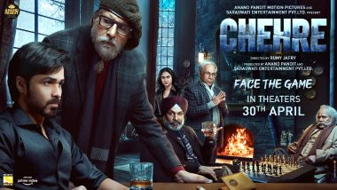 Chehre: Amitabh Bachchan, Krystle D'souza, Emraan Hashmi's Mystery-Thriller To Release In Theatres On April 30