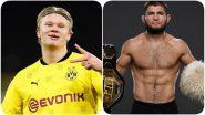 Khabib Nurmagomedov Gets an Autographed Jersey From Erling Haaland, Calls Borussia Dortmund Star 'Beast'