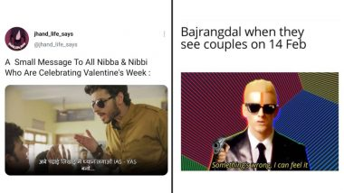 Valentine's Day 2021 Funny Memes and Jokes: From Bajrang Dal to 'Nibba Nibbi' on Feb 14, Hilarious Posts You Can Share with Your Single Friends