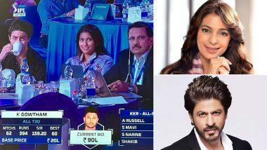 IPL 2021 Auction: Juhi Chawla Can't Stop Gushing Over Shah Rukh Khan's Son Aryan and Daughter Jahnavi, Calls Them KKR Kids