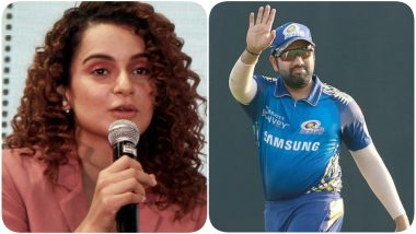 Kangana Ranaut Calls Out Rohit Sharma and Indian Cricketers, Calls Protesting Farmers 'Terrorists'! Twitter Removes Tweet for Violating Rules