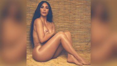 Did Kim Kardashian Go Complete Naked? KUWTK Star Wears Nothing But Nude SKIMs Tights Kissing Her Caramel Skin, Fans Love Her Energy Amid Divorce Rumours (See Pic)